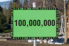 Unusual Green Sign Royalty Free Stock Photos