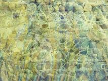 Unusual Grunge Cobble Wall Textured Artistic Background Stock Image
