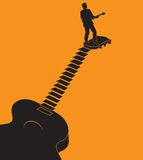 Unusual guitar graphic ideal for gig announcements Stock Images