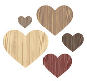 Unusual Heart. Wood Stock Photo