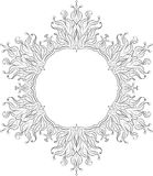 Unusual hexagon rich decorated floral decorative frame with empt Stock Image