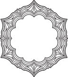 Unusual, hexagonal, lace frame, decorative element with empty pl Stock Images