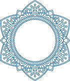 Unusual, hexagonal, lace frame, decorative element with empty pl Royalty Free Stock Photos