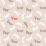 Unusual hipster seamless pattern with  clothes moth. Vector background. Stock Images