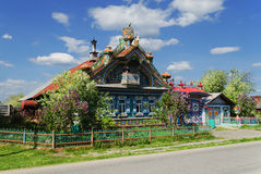 The unusual house in the Russian village Royalty Free Stock Photos