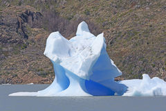 Unusual Iceberg on a Glacial Lake Royalty Free Stock Image