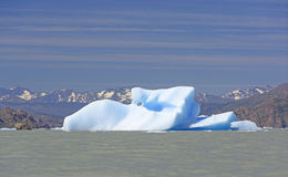 Unusual Iceberg in a Glacial Lake Stock Photography