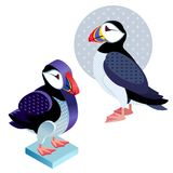Bird deadlock in a flat style and an isometric view. Royalty Free Stock Photography