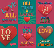 Unusual inspirational love posters. Set 2. Stock Image