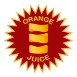 Unusual juice design in a simple style. stock images