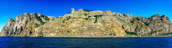 Unusual karadag mountains in the Eastern Crimea. Royalty Free Stock Images