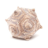 Unusual knitted object - dodecahedron. Isolated on white Stock Photo