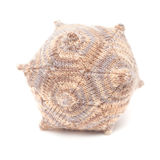 Unusual knitted object - dodecahedron. Isolated on white Stock Image