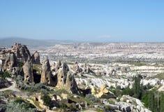 Unusual landscape of Cappadocia. Stock Photos