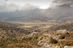 Unusual landscape on Crete Royalty Free Stock Photo