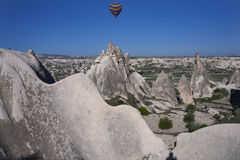 Unusual landscapes and buttes of Cappadocia. Royalty Free Stock Image