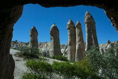 Unusual landscapes in the valley of love. Stock Photos