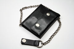 Unusual leather wallet Stock Image