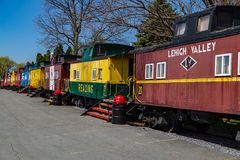 Free Unusual Lodging At Red Caboose Motel Stock Photos - 115179183