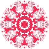 Unusual mandala in aztec style. Vector image. Unusual mandala in aztec style. Vector image royalty free illustration