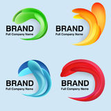 Unusual modern logo design Stock Image