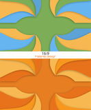 Unusual modern material design. Backgrounds set.  Format 16:9. Vector Illustration Royalty Free Stock Photography