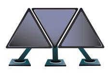 Unusual monitors Royalty Free Stock Photography