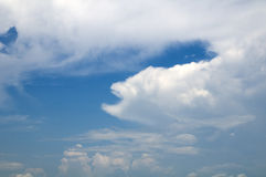 Unusual monster looking cloud formation Royalty Free Stock Photo