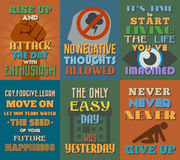 Unusual motivational and inspirational quotes posters. Set 2. stock illustration