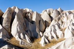 Unusual mountain landscape of Turkish Cappadocia. Nature Royalty Free Stock Image