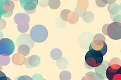 Fun multi-colored circles on a light background. Unusual multi-colored circles on a light yellow background. Abstract background royalty free illustration