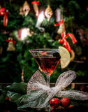 Unusual New Year's drink with remnants of Christmas Royalty Free Stock Photos