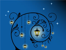 Unusual night floral background Royalty Free Stock Photo