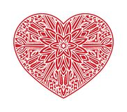 Unusual ornate shape of heart for Valentine`s design or tattoo.  vector illustration