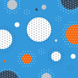 Unusual pattern with circles and dots background. Abstract fireworks or snowfall. Festival or carnival image. Greeting card background, vector illustration Royalty Free Stock Images