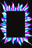 Unusual patterned bright free hand drawn frame. Royalty Free Stock Images