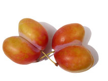 Unusual plums. Unusual plum in the shape of a heart Stock Photo