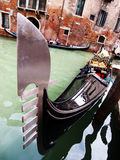 Unusual point of view of a Gondola. In Venice, Italy royalty free stock image