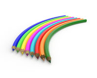 Unusual rainbow from pencils Stock Images