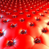 Unusual red heart design upholstery Royalty Free Stock Image