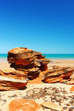 Unusual Rock Formation at a Beach, Western Australia Royalty Free Stock Photo