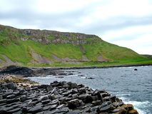 Unusual rock formation at Giant`s Causeway stock image