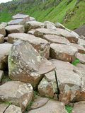 Unusual rock formation at Giant`s Causeway royalty free stock photography