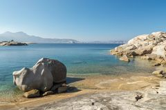 Unusual rock formations on the coast of Corsica near Calvi Royalty Free Stock Photography