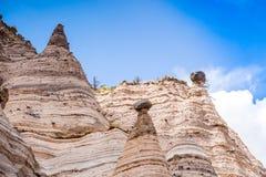 Unusual rock formations in Kasha Katuwe Park, USA Royalty Free Stock Photo