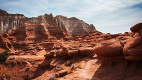 Unusual Rock Formations at Kodachrome Park, Utah. Desert Landscape Panorama at Kodachrome Basin State Park, Utah, USA, showing unusual shaped rock formations and Royalty Free Stock Image
