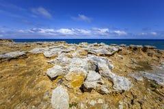 Unusual rock formations at ocean coastline in Australia. Unusual rock formations at ocean coastline in Australia Royalty Free Stock Photo