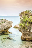 Unusual rocks with birds Royalty Free Stock Photography