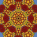 Unusual seamless oriental art backdrop. Geometric Royalty Free Stock Image