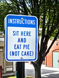 Unusual sign, eat pie Royalty Free Stock Photo